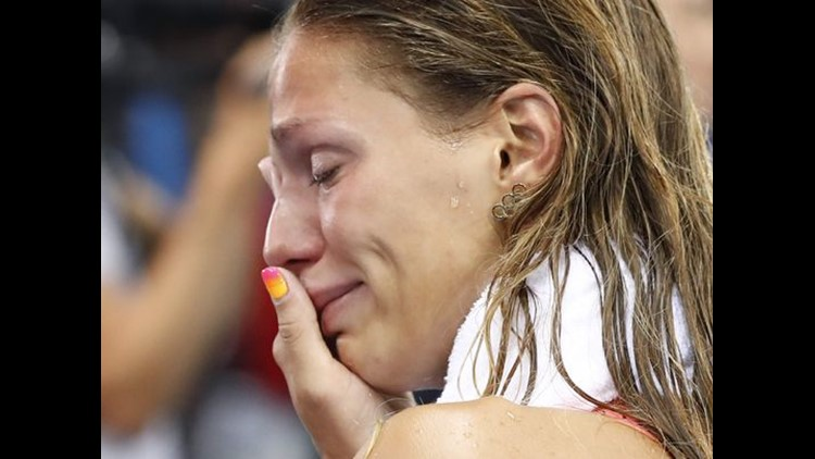 Russia's Yulia Efimova cries after she placed second in the 100 breaststroke.   (Photo: Odd Andersen, AFP/Getty Images)