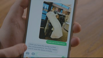 Washington woman receives several wedding donations from strangers after wrong number text