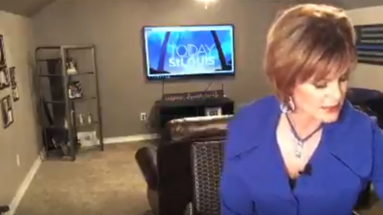 Need a laugh? Watch St. Louis anchor's dogs interrupt as she tries to record