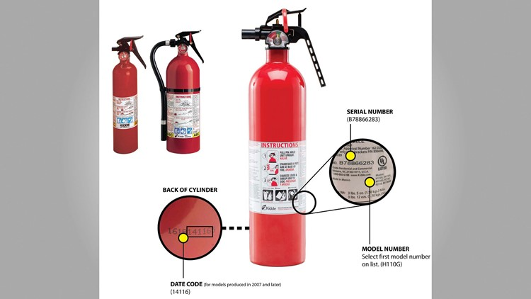 The U.S. Consumer Product Safety Commission says the recall covers push-button and plastic-handle extinguishers made from 1973 through Aug. 15, 2017.