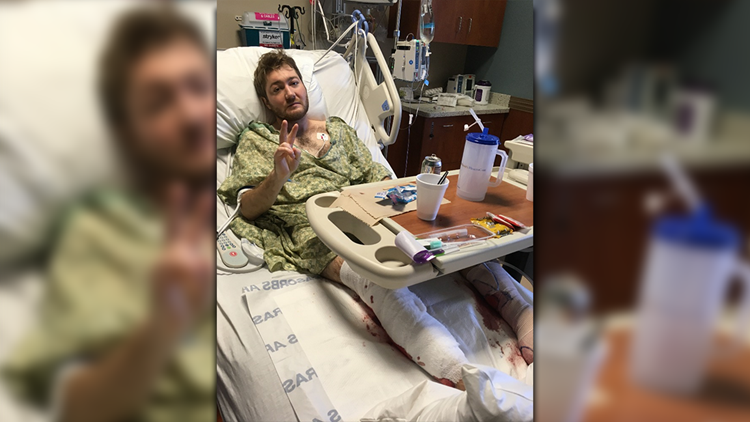 Austin bomber victim on a hospital bed