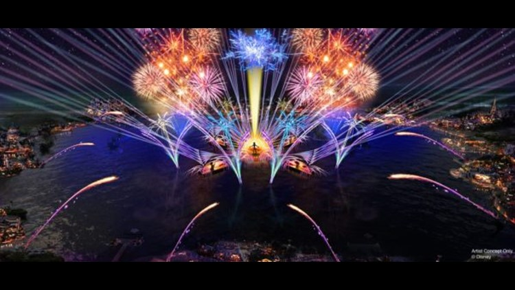 The Harmonious nighttime show at Epcot. (Image courtesy of Disney Parks.)