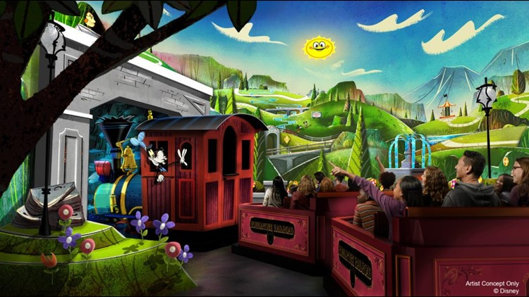 Mickey and Minnie's Runaway Railway (Image courtesy of Disney Parks.)