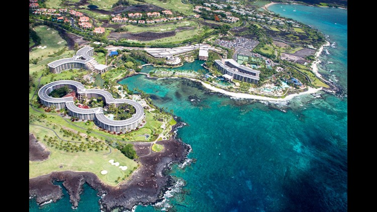 You'll get a $250 credit to use at Hilton resorts, like the Hilton Waikoloa Village on the Island of Hawaii. (Photo by dirkr/Shutterstock)