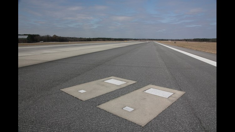 Richard and Catherine Dotson's graves. (Photo courtesy of Savannah/Hilton Head International Airport)