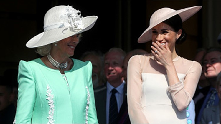 LONDON, ENGLAND - MAY 22: (L-R) Camilla, Duchess of Cornwall and Meghan, Duchess of Sussex attend The Prince of Wales' 70th Birthday Patronage Celebration held at Buckingham Palace on May 22, 2018 (Photo by Chris Jackson/Chris Jackson/Getty Images)