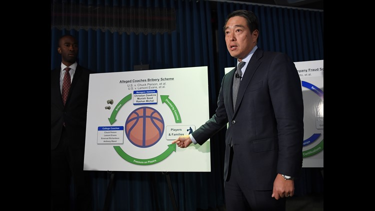 All eight men are facing charges related to the investigation unveiled by federal investigators in late September, which alleges bribery and corruption in college basketball recruiting that involved coaches, agents, players and their families, and apparel company executives.