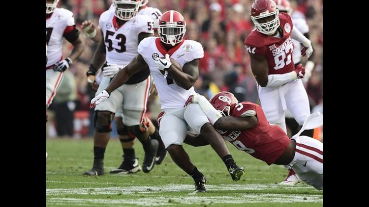 Sony Michel's touchdown run in the second extra period won the game for the Bulldogs. It was the first Rose Bowl to reach overtime.