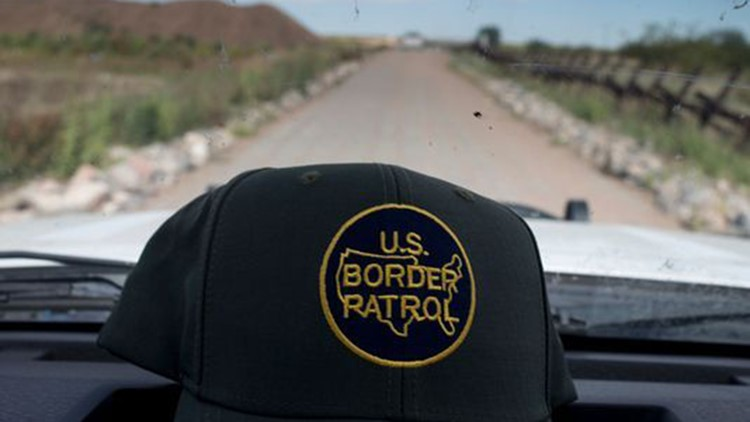 The video, filmed from the Mexican side of the border, shows the two agents holding on to each of the man's arms as they walk him towards the international boundary near one of the border crossings.