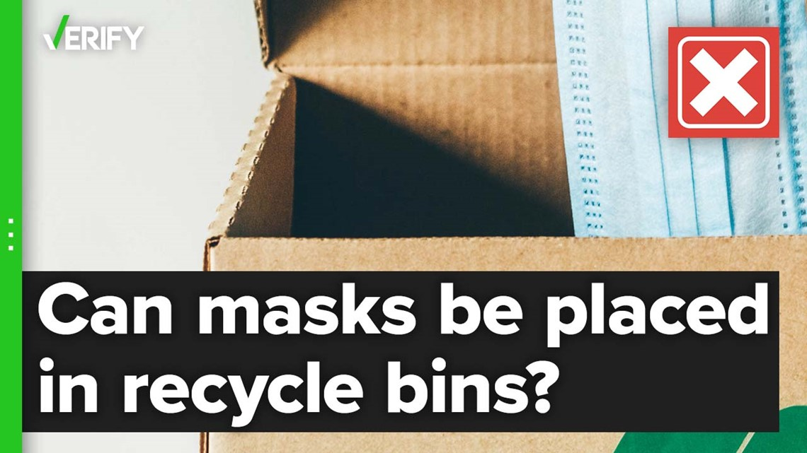 Disposable masks can't be recycled at most municipal recycling centers