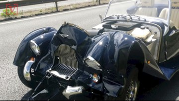 Driver Lucky to Be Alive After His Classic-Style Car Smashes into Back of Vehicle Going 70mph: Report
