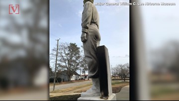 Seemingly Confused Vandals Set Fire to Statue of WWII Hero Gen. Lee, Not the Confederate Leader