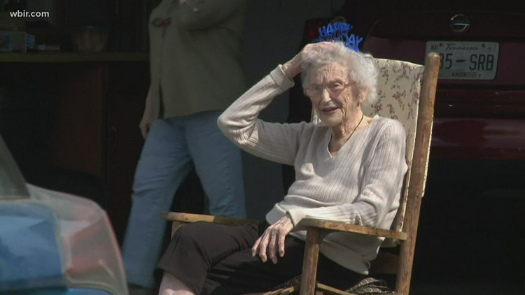 Friends, family hold birthday parade for 103-year-old Knoxville woman