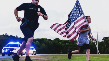10-year-old runs 1-mile for fallen K9 officer
