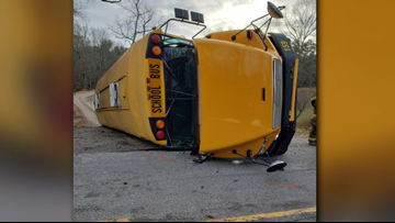 Student in critical condition after bus rollover in Alexander County