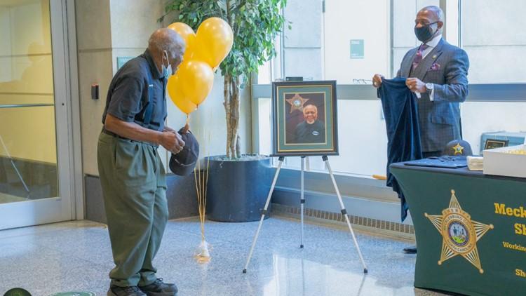 NC sheriff's office celebrates custodian's 90th birthday