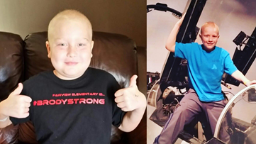 Charlotte firefighter's 11-year-old son beats cancer