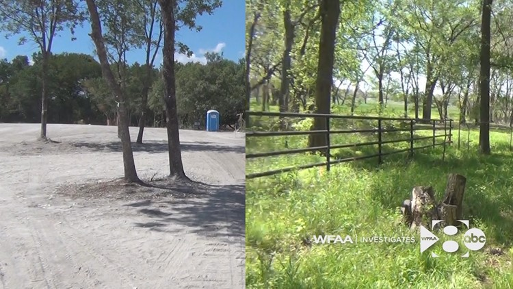 Justin Jinright's property after and before