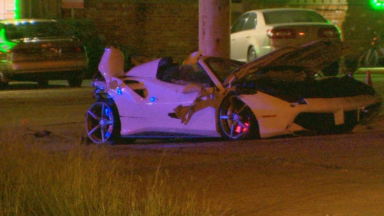 single car crash riverfront boulevard