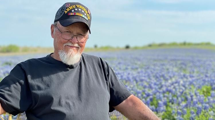 'I got plenty,' says Vietnam veteran whose Texas bluebonnet fields are nothing short of breathtaking