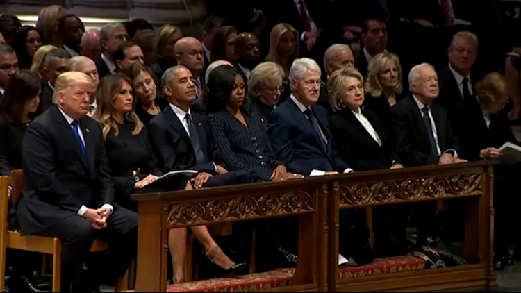 Living presidents at Bush's funeral-432346027