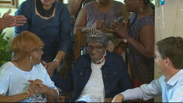 Woman feels 'blessed' as she celebrates 105th birthday