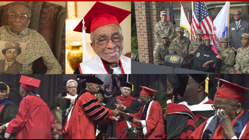 70 Years In The Making: WWII Veteran Gets To Hear Name Called, Walk on Graduation Day