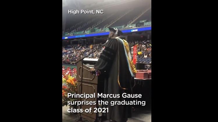 North Carolina principal sings 'I Will Always Love You' to graduating class