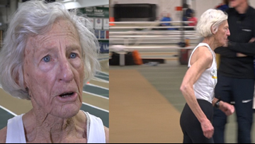 'I wish I was faster' | 82-year-old grandma track star wins 3000M at Masters Championships