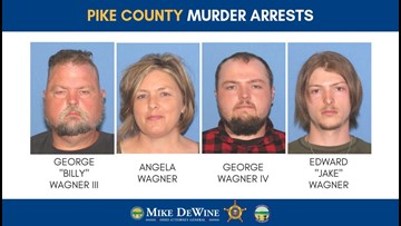 Family of 4 arrested in the Rhoden family homicides in Pike County, Ohio