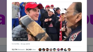 Viral videos appear to show Kentucky high schoolers mocking Native American marchers