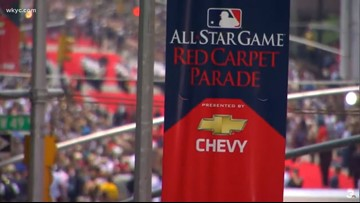 Watch highlights: MLB stars of past and present show off for All-Star Game parade and red carpet in Cleveland