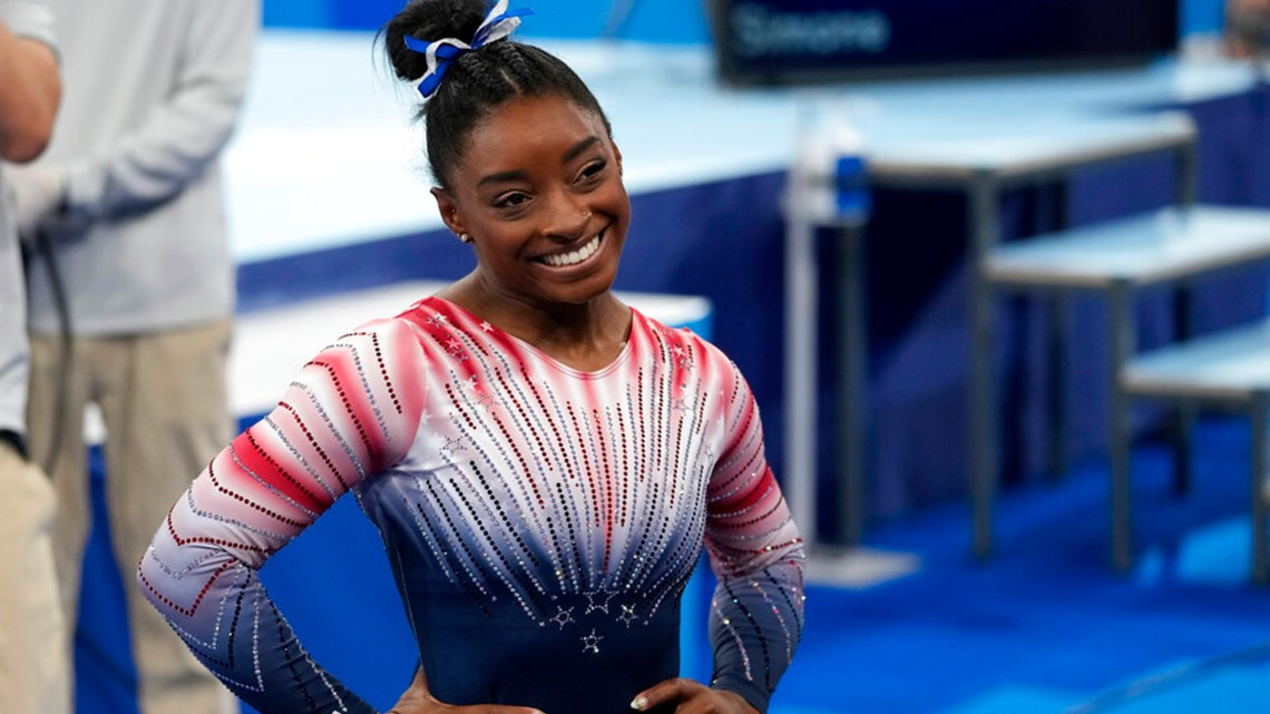 See how Simone Biles finished in the balance beam finals at the Tokyo Olympics