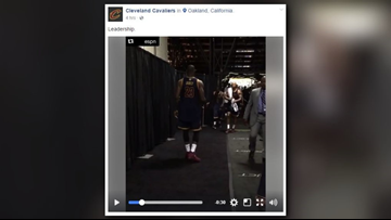 See what LeBron James did moments after Cleveland Cavaliers lost Game 1 to Golden State Warriors