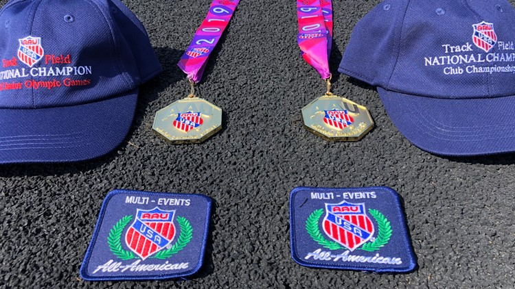 Adrianna Hayes's awards from Junior Olympics and ESPN Club Nationals
