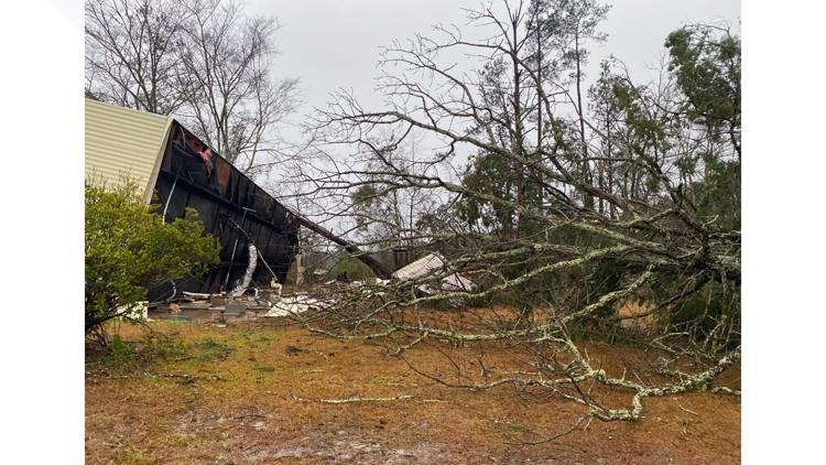 Three tornadoes touched down in Central Georgia on New Year's Day, NWS says