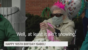 Friends and family celebrate 'Speedy' Izzy's 105th birthday