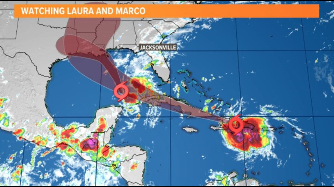New Orleans officials urge residents to prep for impacts of Tropical Storms Marco & Laura