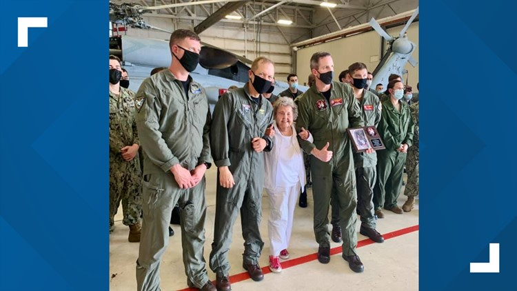 Navy widow flies in helicopter to celebrate 100th birthday