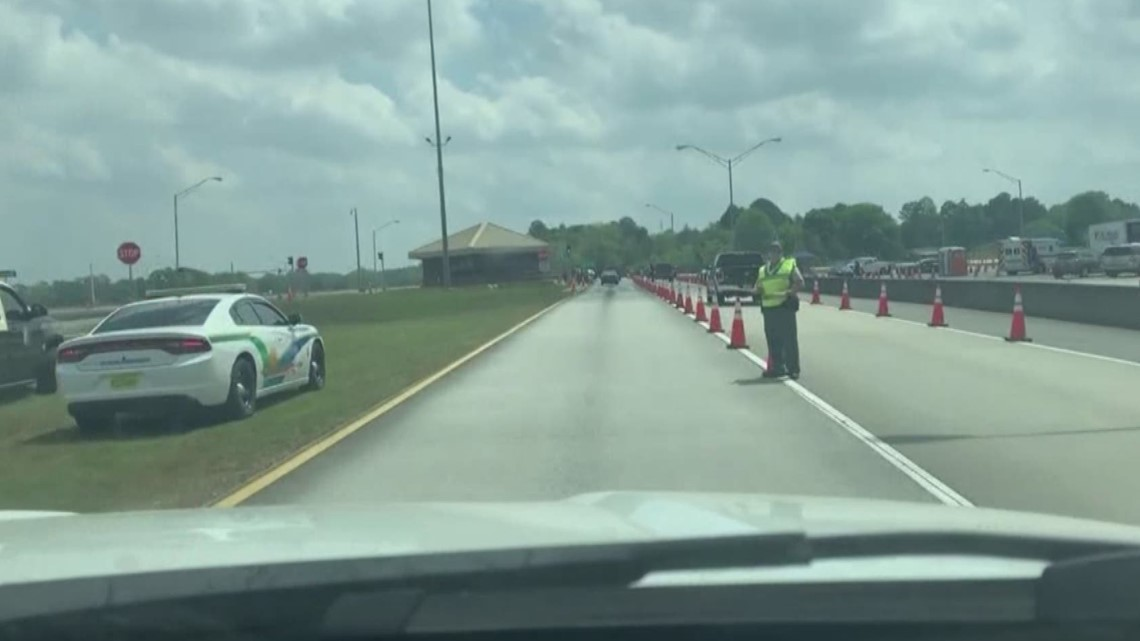 Checkpoints set up entering Fla. from Ga. & Ala., in effort to limit spread of COVID-19
