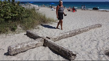 Mystery of giant cross that washed up on Florida beach may be solved