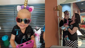 2-year-old girl celebrates defeat of rare form of ovarian cancer