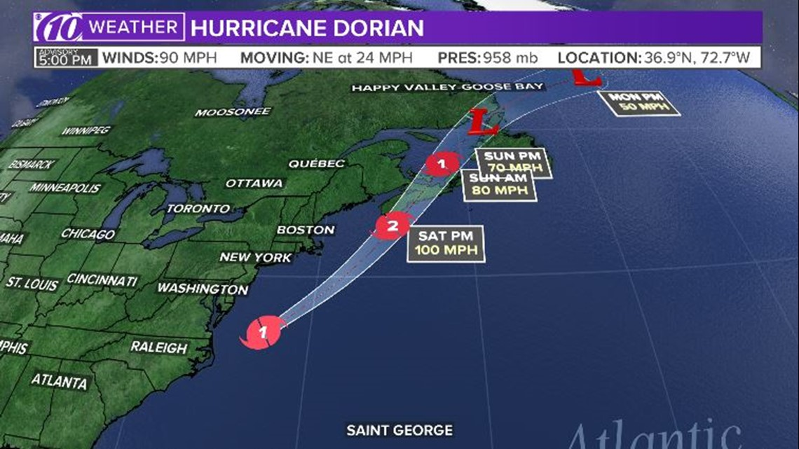 Live blog: Hurricane Dorian makes landfall in North Carolina