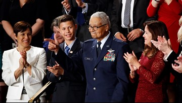 100-year-old Tuskegee Airman from Bethesda honored at State of the Union after being promoted to Brigadier General