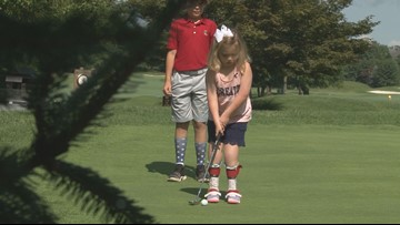 Her parents were told she might not be able to walk. Now she's golfing, dancing