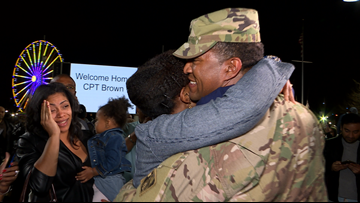 Army veteran returns home and surprises family at the National Harbor