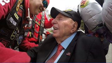 100-year-old WWII vet shares his terrors and triumphs