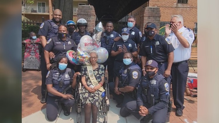 Woman celebrates 110th birthday and the community turns out to help