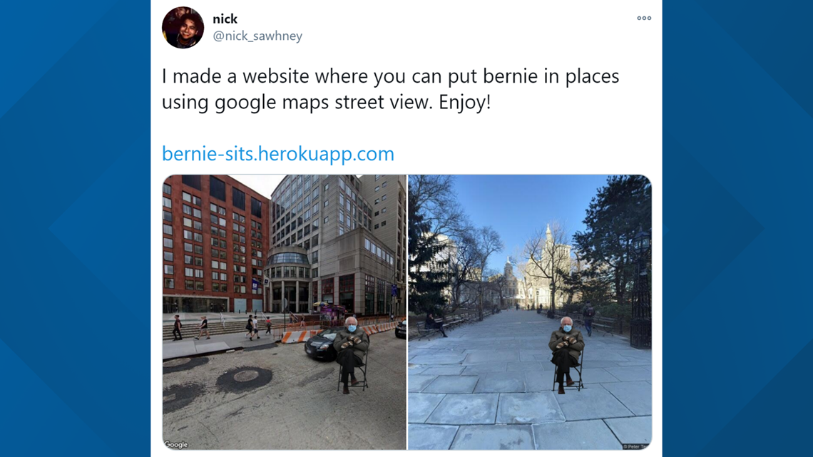 Put Bernie Anywhere An Nyu Grad Student Created A Way To See Bernie Sanders And His Mittens At Any Address 11alive Com