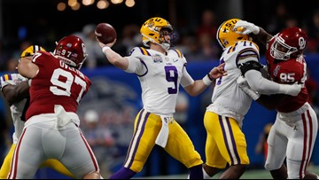 LSU makes statement with dominant Peach Bowl win